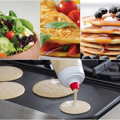 Hand Batter Dispenser Batter Mixer Bottle Waffle Blender Bottle Cupcake Pancake Crepe Batter Kitchen Product Cake Cookie Tools