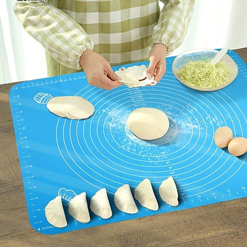 1PC Silicone Baking Mat Thickening Flour Rolling Scale Kneading Dough Pad Baking Pastry Rolling Mat Bakeware Liners 40*30cm ZXH