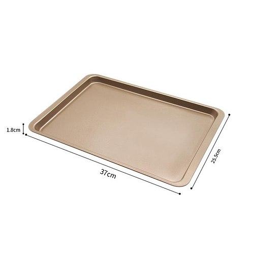 Kapmore 1pc Cookie Pan Creative Rectangular Nonstick Baking Tray Baking Pan Cake Sheet DIY Baking Tools For Home