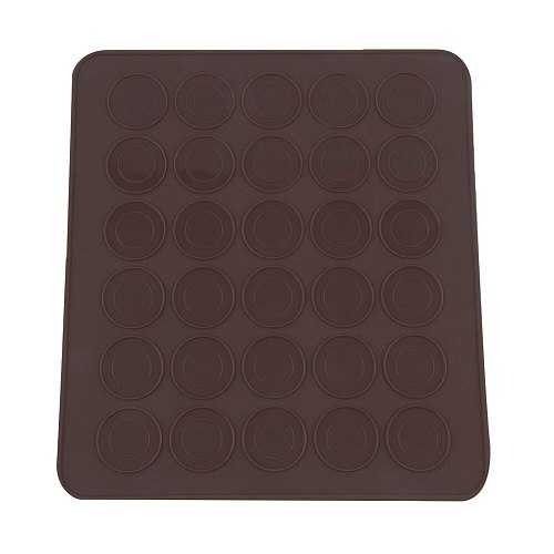 1pc 30Hole Silicone Macaron Pastry Oven Baking Mould DIY Round Baking Mat Esteriras Forros De Cozimento Gel Pad Macarons Mat