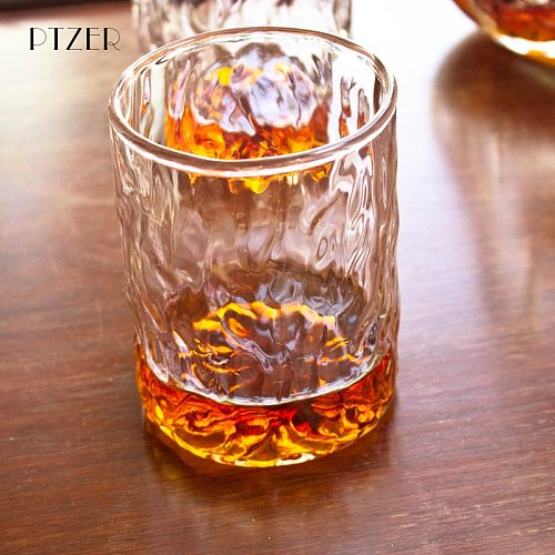Water Mark Glass lWiskey Cup Classic Glass Water Cup Japanese Style Sake Cup Water Bottles Water Pots Kettles Kitchen Utensils