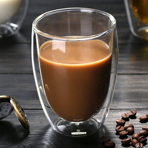 80/250/350/450ml Glass Double Walled Heat Insulated Tumbler Espresso Tea Cup Transparent Tea Milk Glass Cup Mugs Drinkware