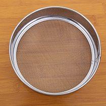 1PC Stainless Steel Fine 15cm round flour sieve 40 Mesh Strainer Colander Sifter Advanced Kitchen Cake Baking Tools OK 0645