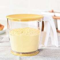 Durable Flour Sieve Concise Operated Sifter Cup Shape Mechanical Hand-Held Shaker Kitchen Flour Sieve Baking Tool Utensils Hot