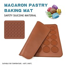 Macaron Mold Mat 36/48 Holes Silicone Mat Non-Stick Baking Pad Cookies Pastry Bread Mould Oven Liner Kitchen Baking Accessories