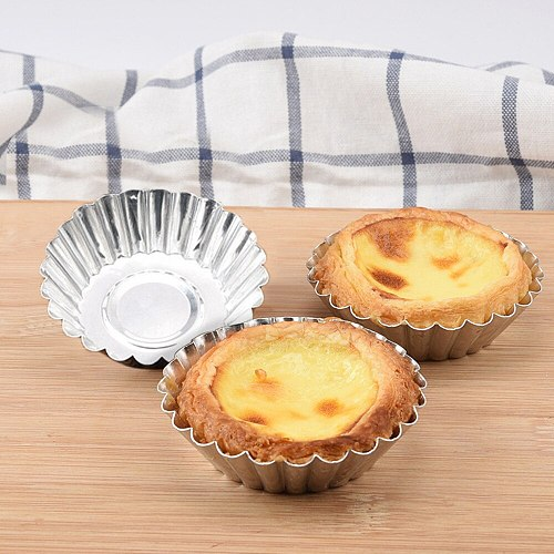 20pcs Aluminum Cupcake Cake Cookie Lined Mold Paper Cups Cake Forms Cupcake Cake Mold Cup Cake Paper Tools Nonstick Egg Tart #Y1