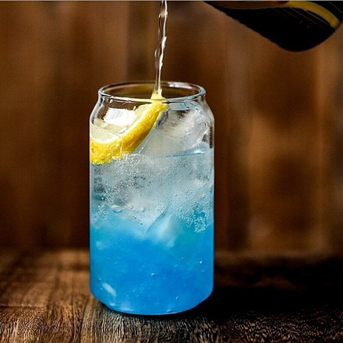 Creative Glass Cup Can Shape Tea Juice Milk Coffee Mug Wine Glass Drink Cup High Borosilicate Glass Durable Drinkware
