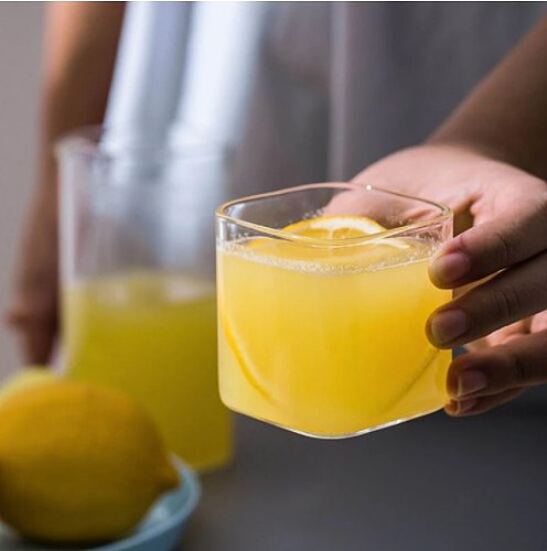 Creative Glass Cup Transparent Coffee Milk Whiskey Tea Beer Glass Cups Heat Resistant Glass Wine Mug Home Bar Drinkware