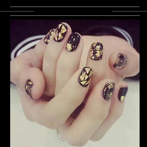 Gold And Silver Tin Foil Nail Sticker Ornament Crystal Light Therapy Nail Foil Paper Elegant Great Popular Nail Jewelry