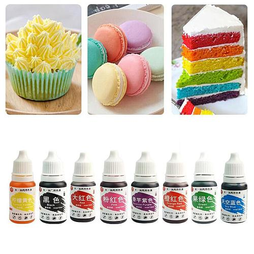 10ml Natural Food Coloring Set Water And Oil Dual-use Diy Cakes And Biscuits Liquid Pigment Baking Color