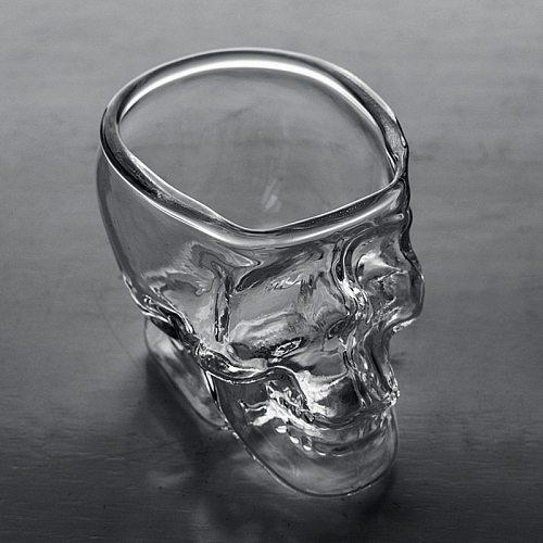 1/2/6pcs Whiskey Tequila Glass Fun Creative Party Wine Beer Drinking Cup Skull Sake Glass Mug Crystal Beer Mug glass Skeleton