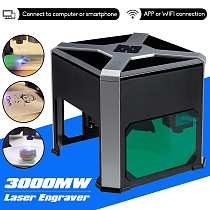 Woodworking 3000mw CNC Wifi Laser Engraver DIY Logo Mark Printer Cutter Mini Laser Engraving Machine Engraving Range Wainlux K6