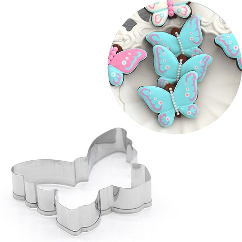 Butterfly Cookie Cutter Stainless Steel Biscuit Knife Baking Fruit Kitchen Mold Embossing Printing