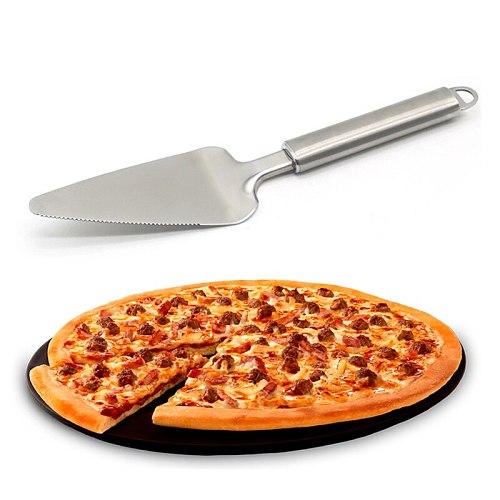 Stainless Steel Serrated Edge Cake Server Blade Cutter Shovel Kitchen Baking Pastry Spatulas Pie Pizza Server Cake Cutter