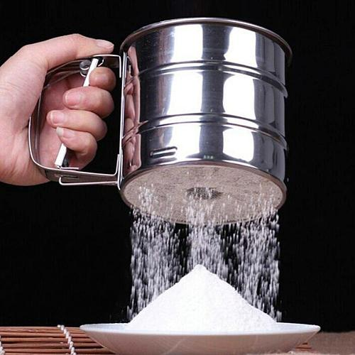 Stainless Steel Sieve Cup Powder Flour Sieve Mesh Knife Baking Tools Pastry Tools DIY Wheat Cake Sifter Shakers