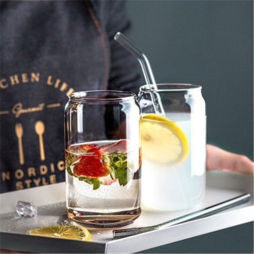 INS Style Milk Coffee Mug Cocktail Wine Glass Summer Drink Cup Durable Drinkware Tea Juice Cup