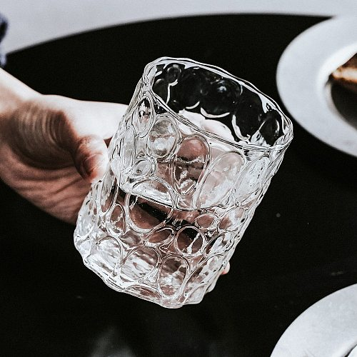 Creative Whiskey Glasses High Borosilicate Glass Old Fashioned Wine Cup 350ml Milk Breakfast Transparent Cups Gift for Friends