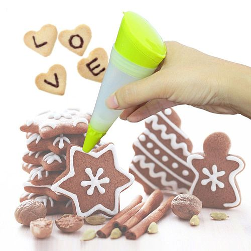 Silicone Food Writing Pen Chocolate Decorating tools Cake Mold Cream cup cookie Icing Piping Pastry Nozzles kitchen accessories