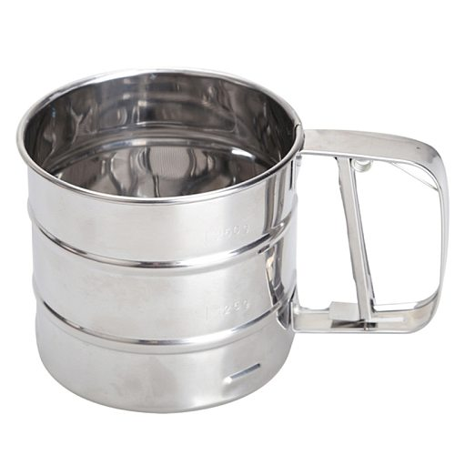 Mesh Flour Sifter Manual Sugar Icing Shaker Stainless Steel Cup Shape Kitchen Tools MJJ88