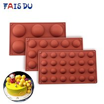 Ball Sphere Silicone Mold For Cake Pastry Baking Chocolate Candy Fondant Bakeware Round Shape Dessert Mould DIY Decorating