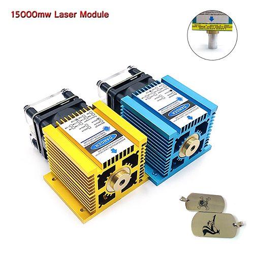 15000MW laser module blue light 445nm wavelength fixed focus laser DIY laser engraving cutting wood plastic 304 stainless steels