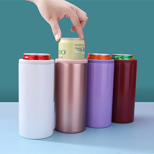 12oz Insulated Slim Can Stainless Steel Can Cooler for Slim Beer Insulated Can Cooler for Regular Cans,Tall Skinny Cans, Bottles