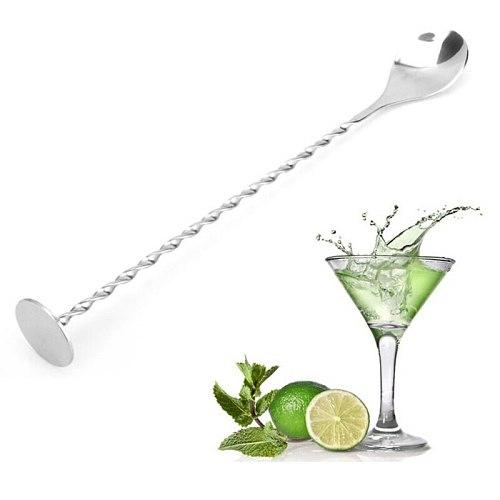 Stainless Steel Cocktail Stirrer Bar Puddler Martini Stirring Spoon