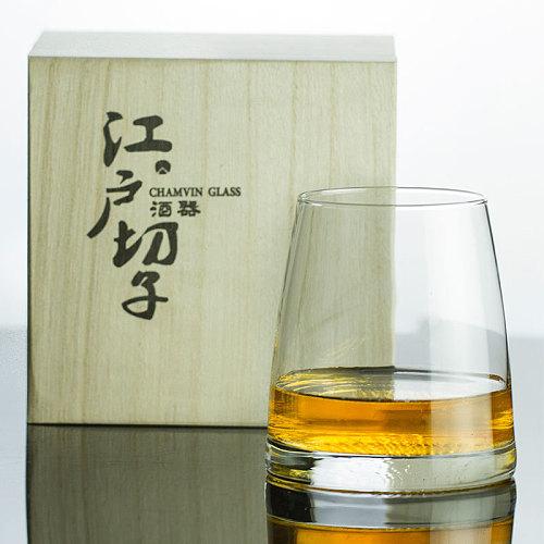 Japan Edo Kiriko Crystal Artwork Whisky Mug Mountain Moon Artistic Conception Whiskey Old Fashioned Glass Wine Tasting Tumbler