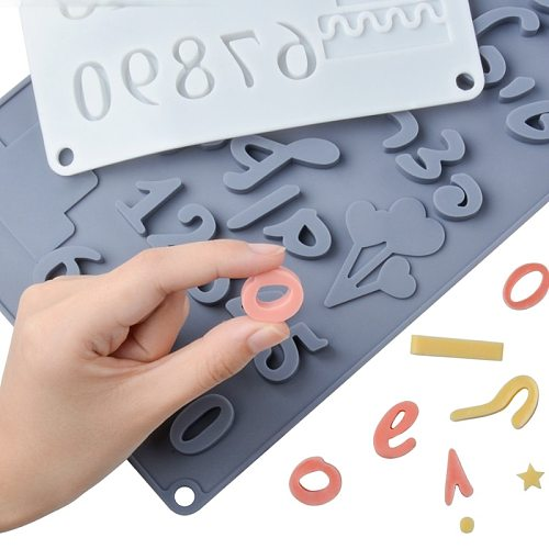 Hebrew Letters Arabic Numbers DIY Silicone Chocolate Mold For Baking Cake Decorating Tools Bakeware Moulds