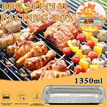 Disposable Barbecue Food Box 20pcs Tin Carton Packing Box Skewers Insulation Meal Packing Box Aluminum Foil Food Containers #T2G