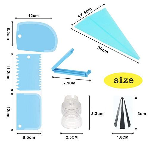 20PCS Silicone Pastry Bag Tips Kitchen DIY Icing Piping Cream Reusable Pastry Bags Cake Decoration Nozzle Set Cake Decoration