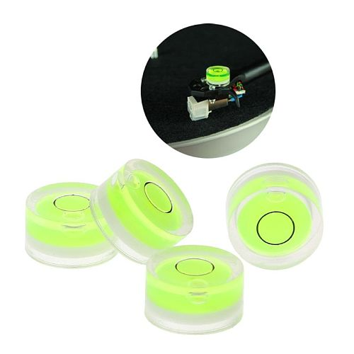 4Pcs/Bag 12x6MM Turntable Player Leveler LP Vinyl Record Bubble Degree Tonearms Set-up Level for Phono Cartridge 203B