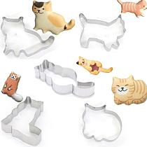 Cat Shaped Cookie Cutter Stainless Steel Biscuits Maker Cookies Embossing Mold Baking Mold Cookies Baking Tool