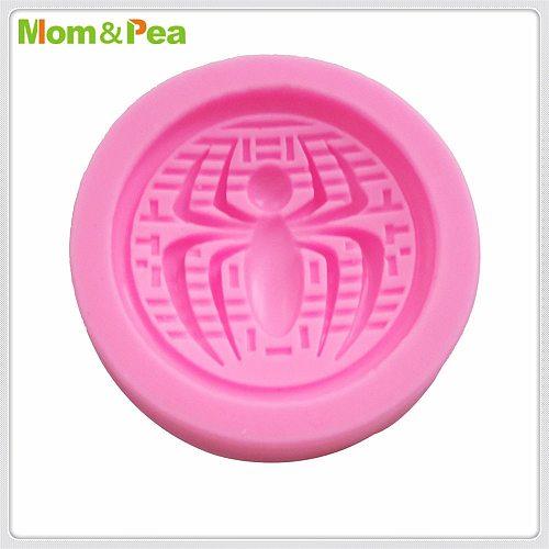 Mom&Pea MPA1945 Spider Silicone Mold Cake Decoration Fondant Cake 3D Mold Food Grade