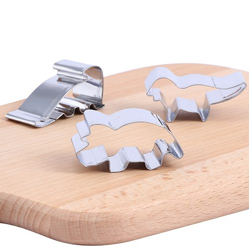 New Stainless Steel Biscuit Mould Cartoon Shape Fondant Cake Mold DIY Sugar Craft Jurassic 3D Pastry Cookie Cutters Cake Tools