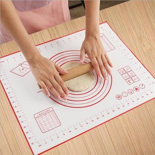 60*40CM Non-Stick Silicone Baking Mat Pad Baking Sheet Glass Fiber Rolling Dough Mat Cookie Macaron Baking Mat Pastry Tools
