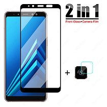 9D Protective Glass For Samsung Galaxy A6 A8 Plus A5 A7 A9 2018 Tempered Glass A10 A20 A30 A40 A50 A60 A70 A80 A90 Screen Film