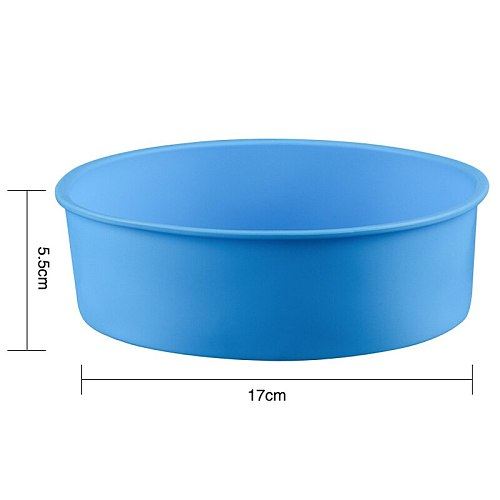 Reusable Round Shape Silicone Cake Pan Baking Tools for Cakes Baking Bakeware Mould Cake Stand Tool 17*6CM Kitchen Tools