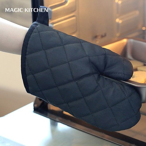 Baking insulation gloves Oven Mitts Lengthen thick gloves Oven gloves Microwave anti-hot gloves
