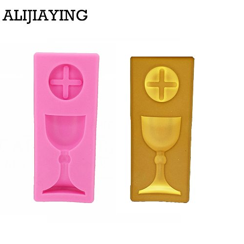 M1233 DIY Cake Tool Charlice cup Baptism Trophy Silicone mold Mould Romantic communition cup Cake Baking Icing Ice
