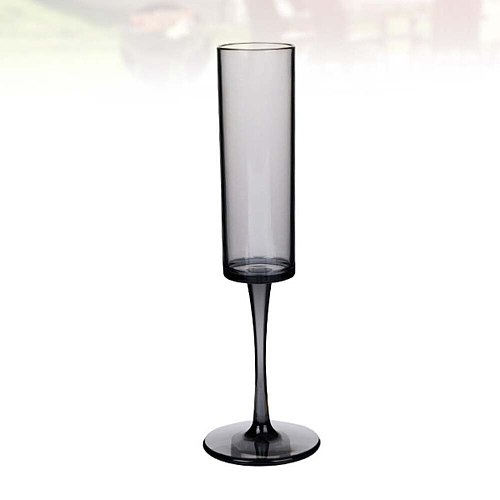 1pc Acrylic Clear Drop Proof Champagne Cocktail Glass Red Glass Cups Cocktail Cups (Black 165ml)