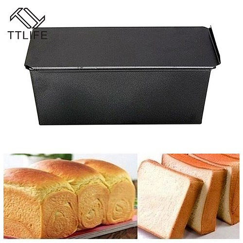TTLIFE Non-Stick Bread Loaf Meatloaf Pan With Lid Iron Toast Cake Mold Kitchen Bakeware 250/500/750/1000g Baking Supplies