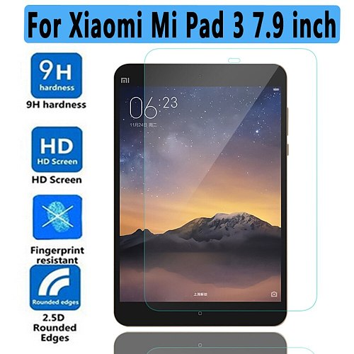 100% High Quality 9H Tempered Glass for Xiaomi Mi Pad 3 7.9  Screen Protector For Xiaomi MiPad 3 7.9  Tempered Glass