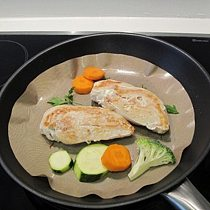 2pcs Round High Temperature Non - Stick Pan Frying Pan Liner Fry Liner Sheet Cooking Wok Sheet Pad Kitchen BBQ Baking Mats 1229