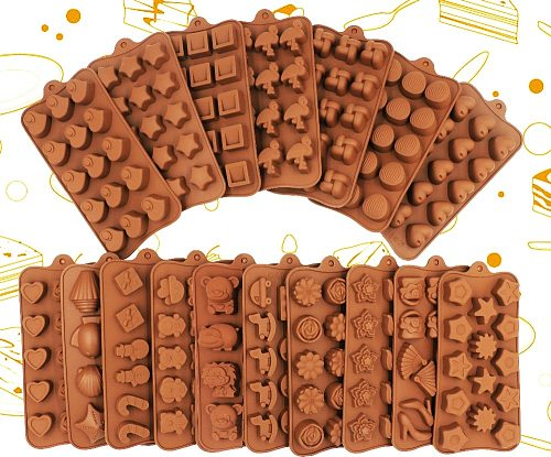 New Silicone Chocolate Mold 3D Shapes Mold Fun Baking Tools For Jelly Candy Numbers Fruit Cake Kitchen Gadgets DIY Homemade