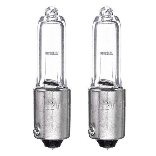 2PCS 1156 BAY9S H21W Halogen Brake Indicator Signal Lamp Car Light Bulb Quartz Glass Halogen Clearance Lights 12V 250LM