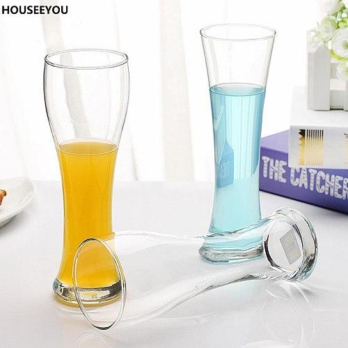 Clear Beer Glass Pilsner Glass Beer Mug Wheat Beer Glass Tankard Crystal Cup Juice Tumbler Drinkware Gor Home Bar Supplies