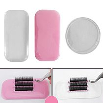 1PC Flexible Silicone/Glass Eyelash Extension Stand Pallet Pad Lash Holder Tool Reusable Individual Eyelashes Easy Pick Up Tool