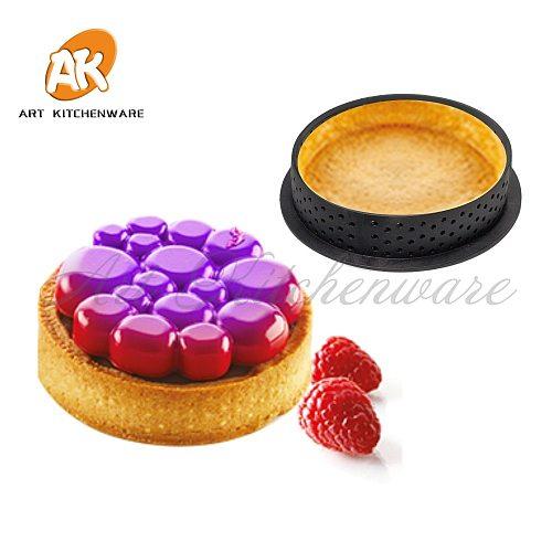 8Pcs or 6pcs Mousse Circle Cutter Decorating Tool French Dessert DIY Cake Mold Perforated Ring Non Stick Bakeware Tart