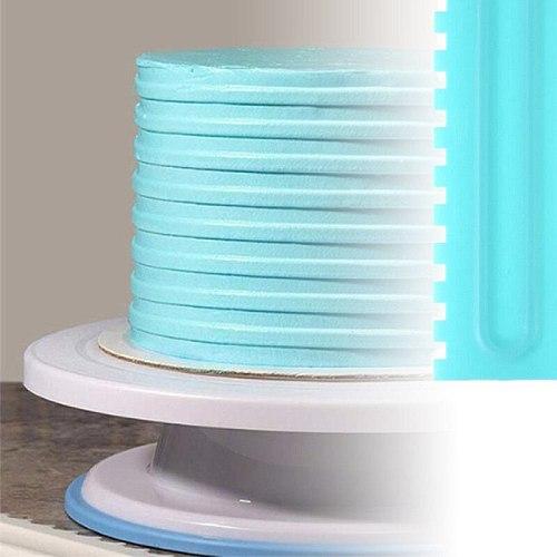 Cake Decorating Comb Icing Smoother Cake Scraper Pastry Design Textures Baking Tools VIP for Scraper cake tool plastic Spatulas